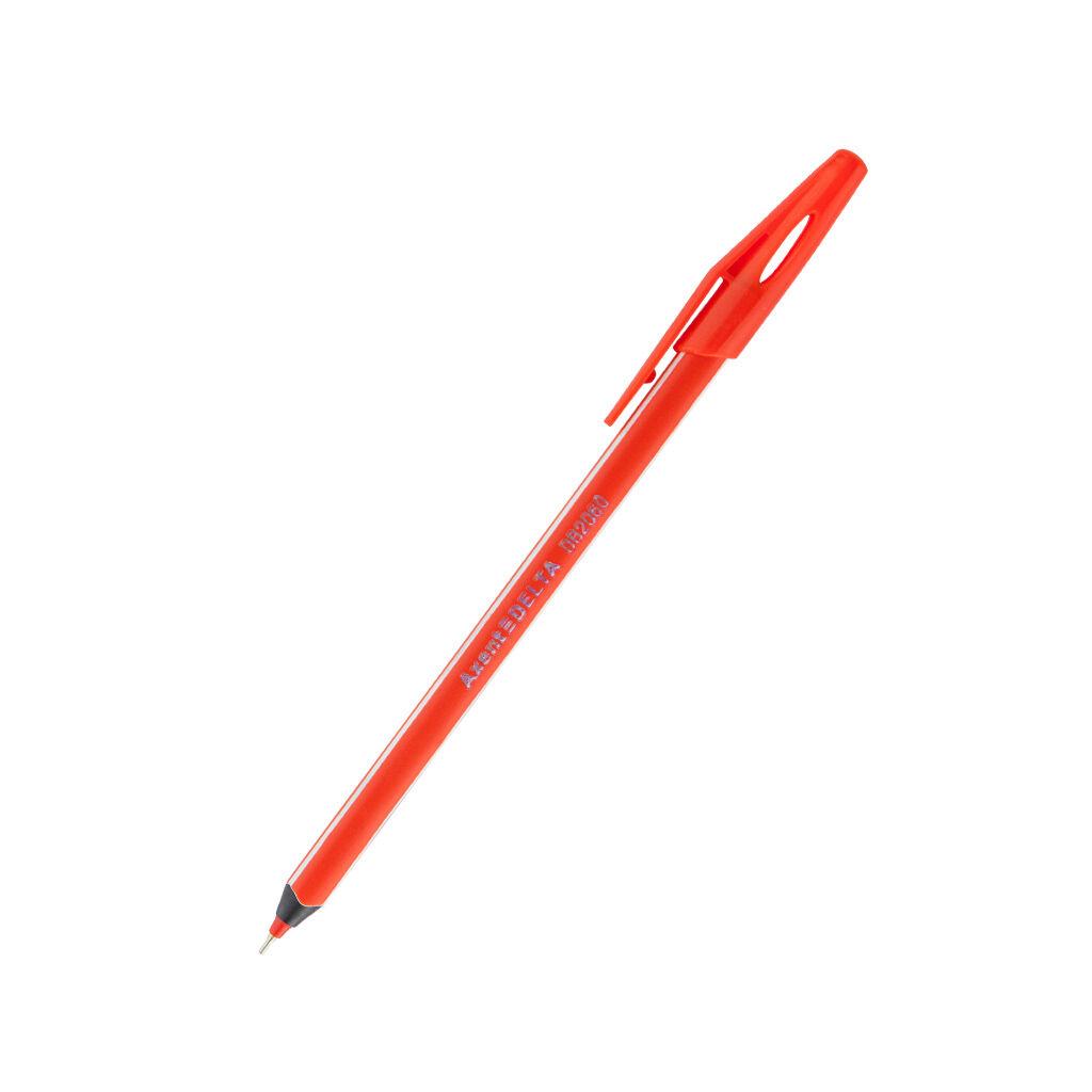 Ручка масляная Delta by Axent Красная 0.7 мм Красный корпус (DB2060-06)