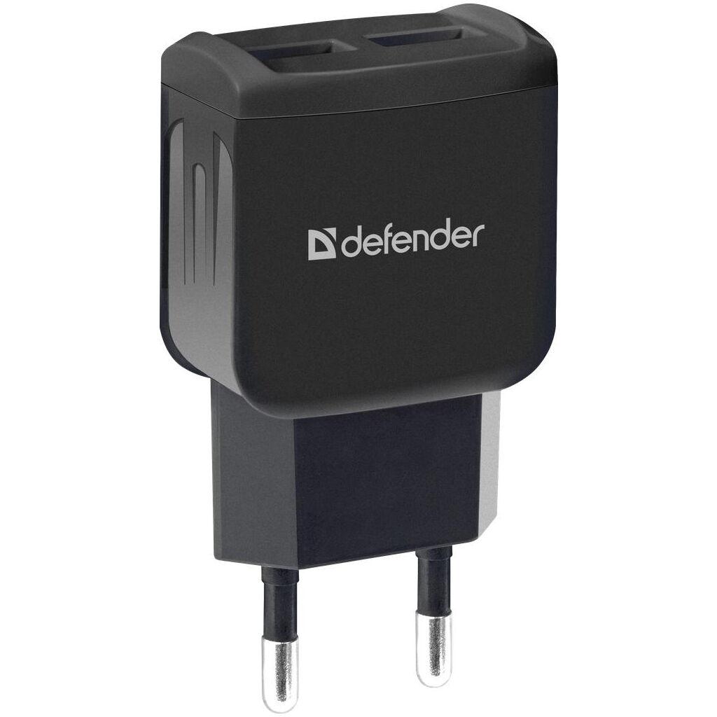 Зарядное устройство Defender UPA-22 black, 2xUSB, 2.1A (83579)