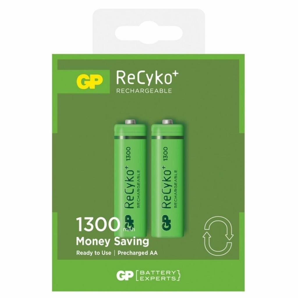Аккумулятор GP AA 130AAHCE-2GBE2 Recyko+ 1300 mAh * 2 (130AAHCE / 4891199042904)
