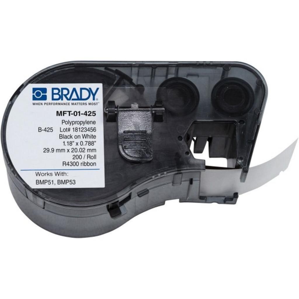 Этикет-лента Brady для принтеров BMP51/BMP53, 40 мм, 200 шт,