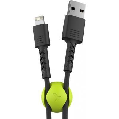 Дата кабель USB 2.0 AM to Lightning 1.0m Soft black Pixus (4897058530933)
