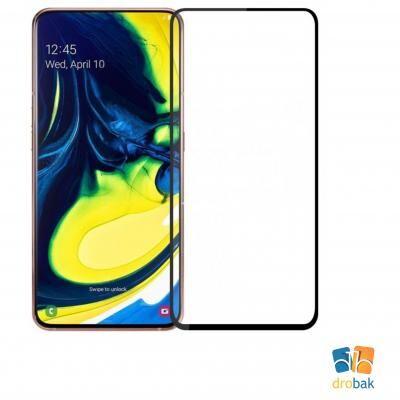 Стекло защитное Drobak Full Glue для Samsung Galaxy A80 (Black (441607)