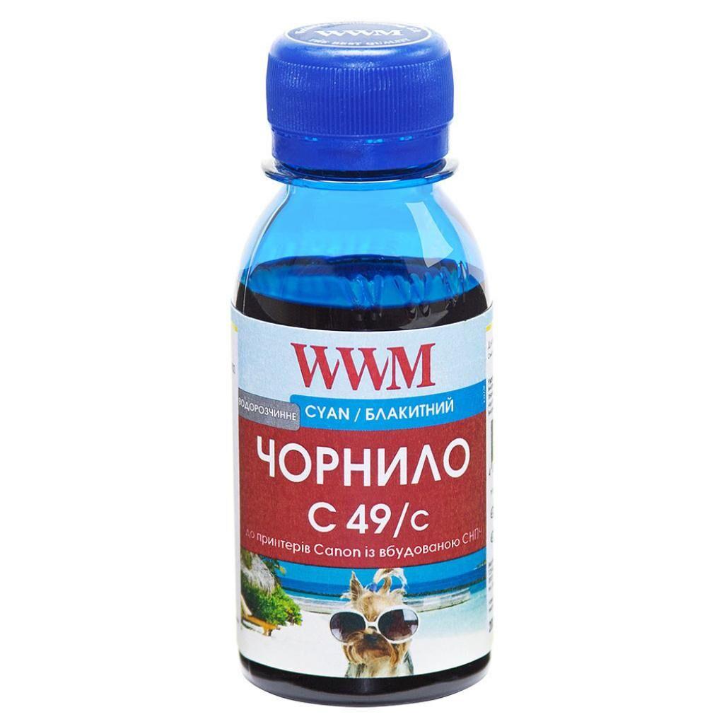 Чернила WWM Canon GI-490 100г Cyan (C49/C-2)