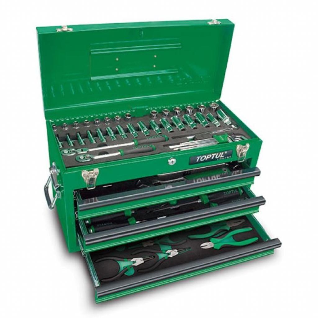 Набор инструментов Toptul для СТО у ящику (Pro-Line) 3 секціі 82од. (GCAZ0016)