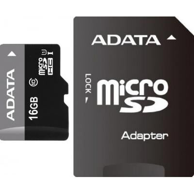 Карта памяти A-DATA 16GB microSD class 10 UHS-I (AUSDH16GUICL10-RA1)