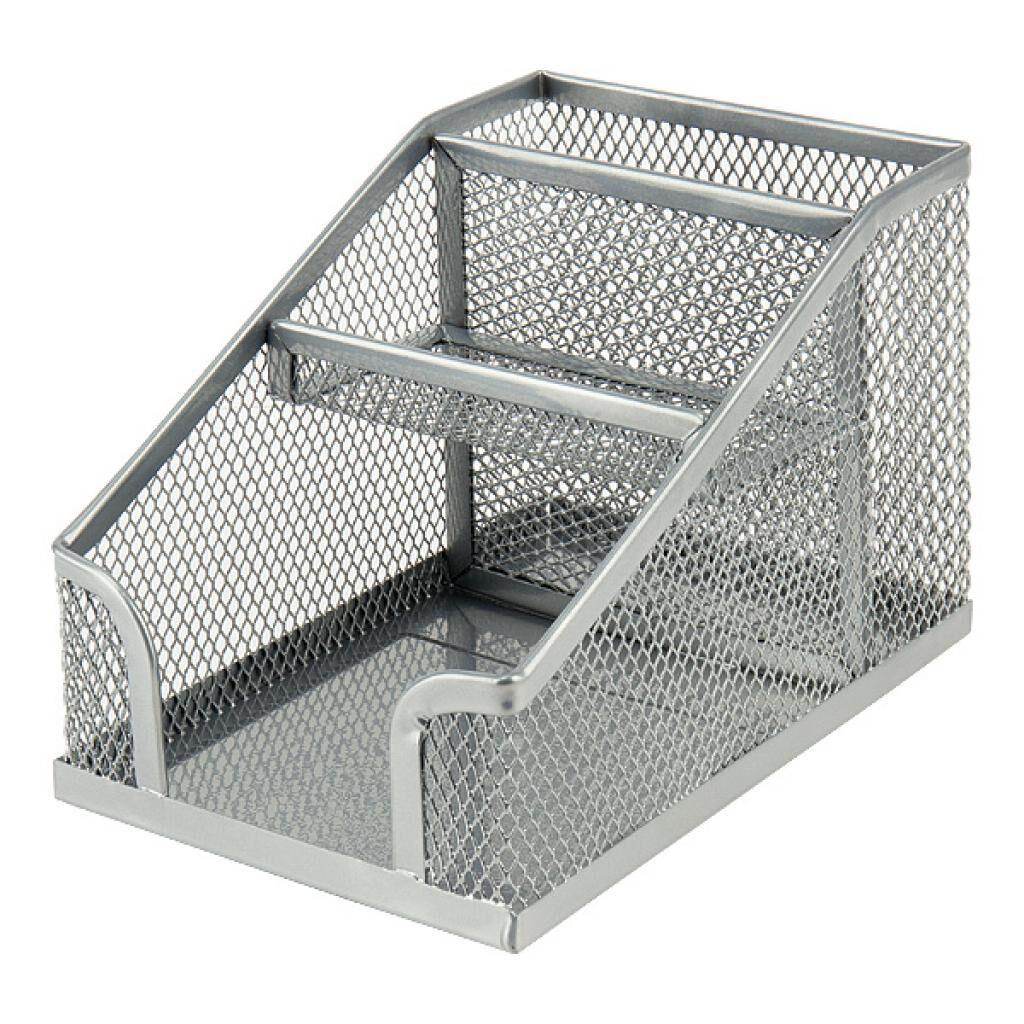 Подставка для мелочей Axent 100x143x100мм, wire mesh, silver (2118-03-A)