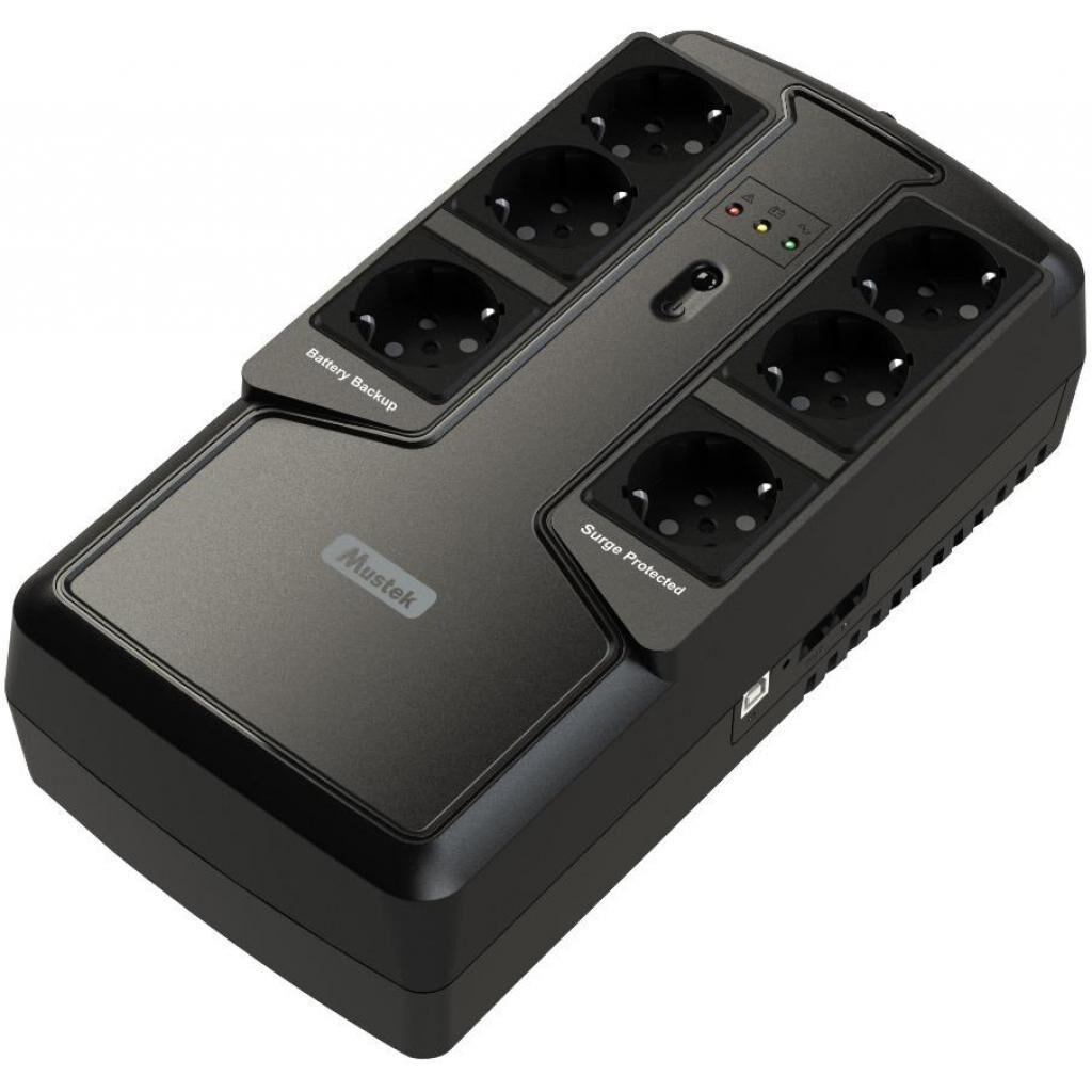 Источник бесперебойного питания Mustek PowerMust 600VA Offline (600-LED-OFF-T10)