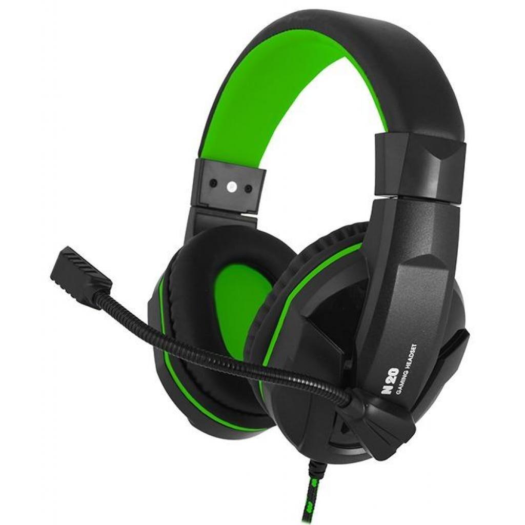 Наушники GEMIX N20 Black-Green Gaming