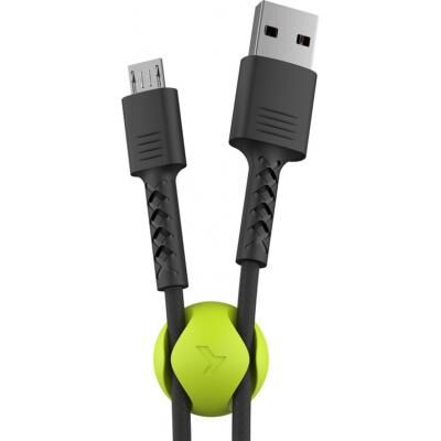 Дата кабель USB 2.0 AM to Micro 5P 1.0m Soft black Pixus (4897058530926)