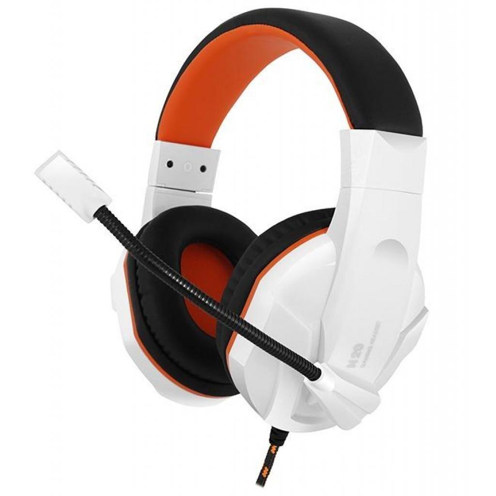 Наушники GEMIX N20 White-Black-Orange Gaming