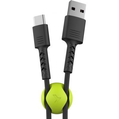 Дата кабель USB 2.0 AM to Type-C 1.0m Soft black Pixus (4897058530919)