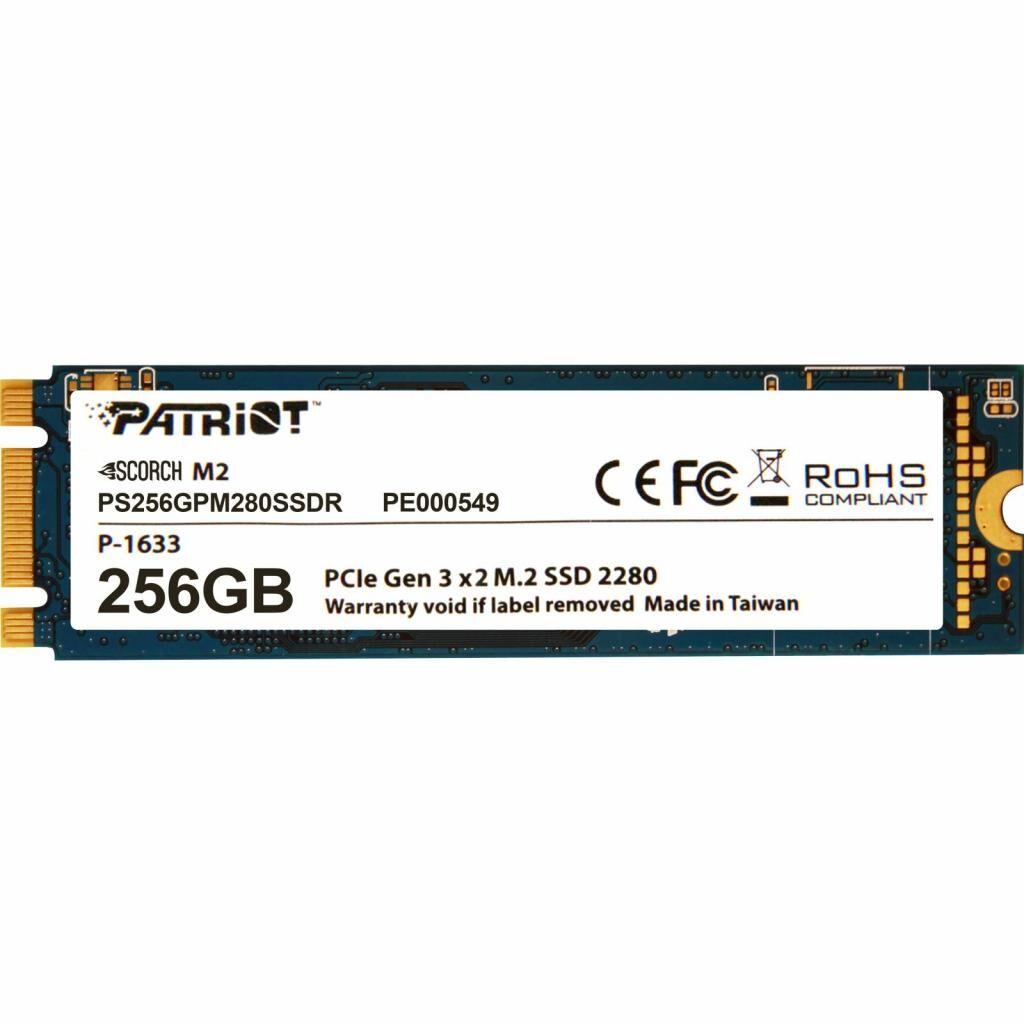 Накопитель SSD M.2 2280 256GB Patriot (PS256GPM280SSDR)