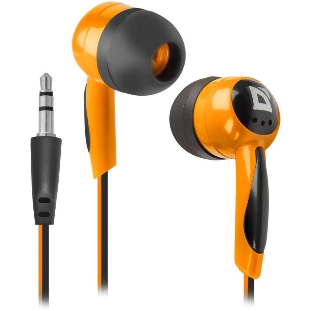 Наушники Defender Basic 604 Black-Orange (63606)