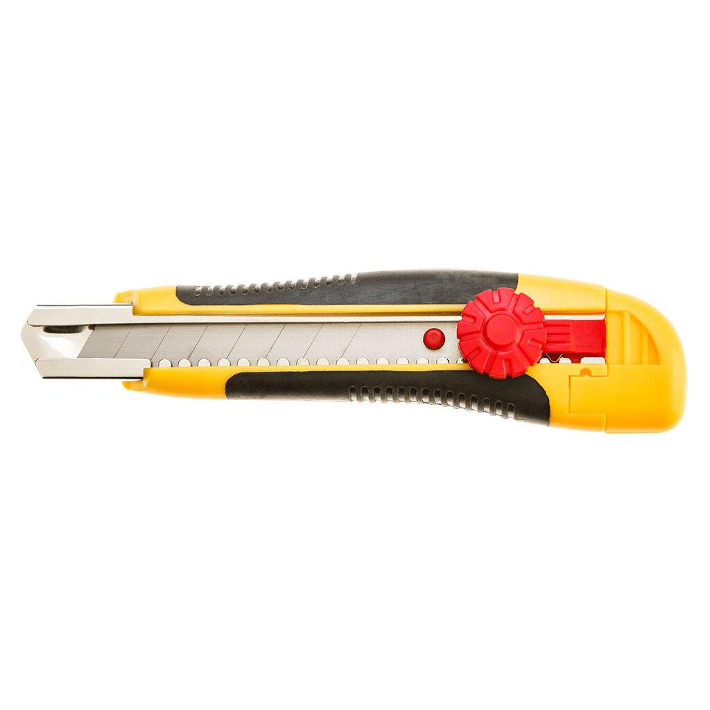 Нож канцелярский Topex 18мм с фиксатором (17B118)