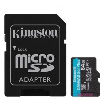 Карта памяти Kingston 64GB microSDXC class 10 UHS-I U3 A2 Canvas Go Plus (SDCG3/64GB)