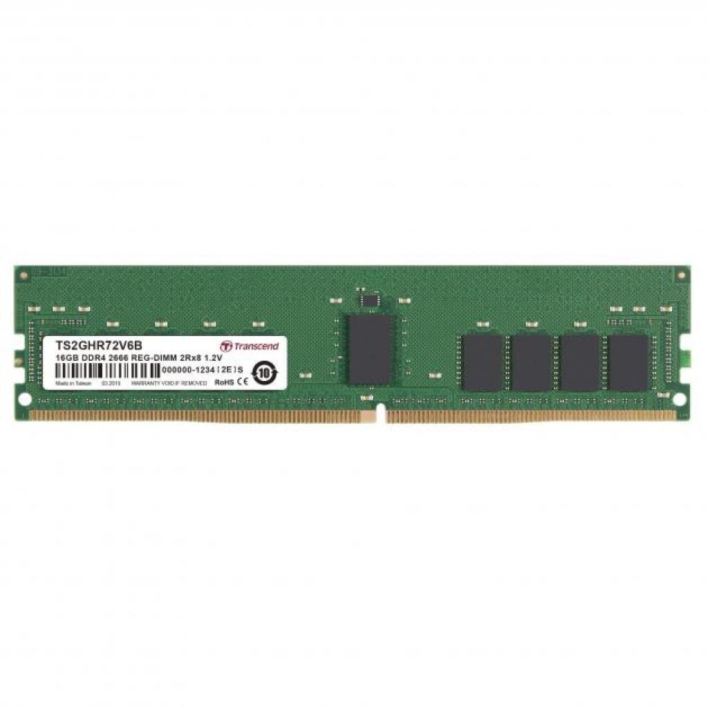 Модуль памяти для сервера DDR4 16GB ECC RDIMM 2666MHz 2Rx8 1.2V CL19 Transcend (TS2GHR72V6B)