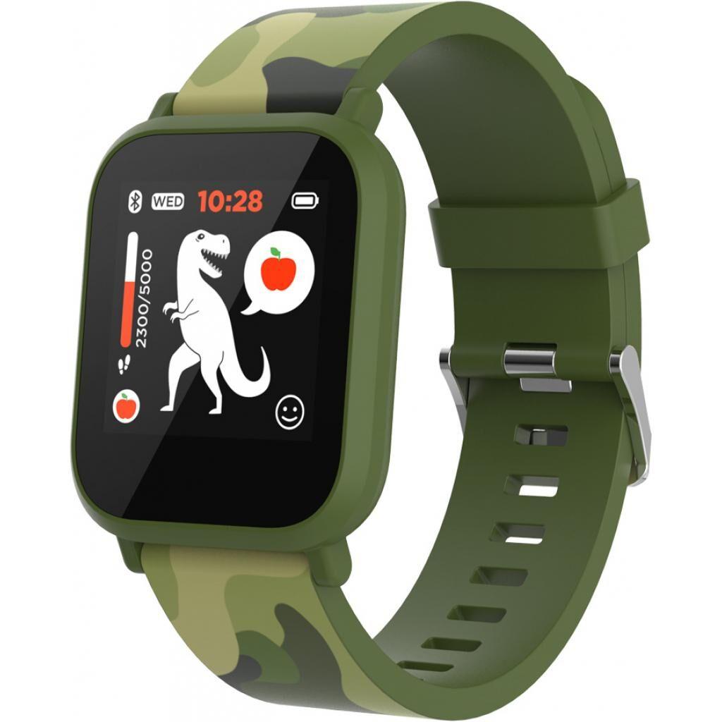 Смарт-часы CANYON CNE-KW33GB Kids smartwatch Green camouflage (CNE-KW33GB)