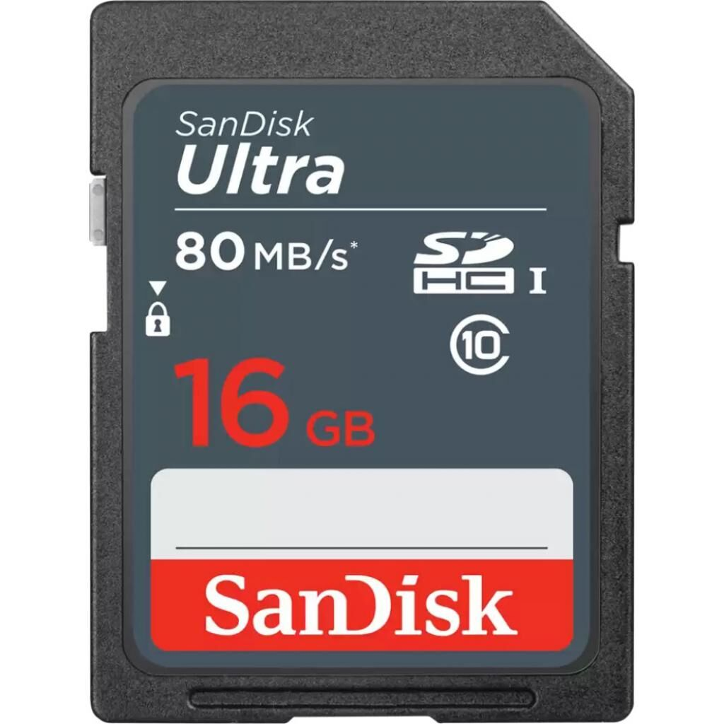 Карта памяти SANDISK 16GB SDHC class 10 UHS-1 (SDSDUNS-016G-GN3IN)