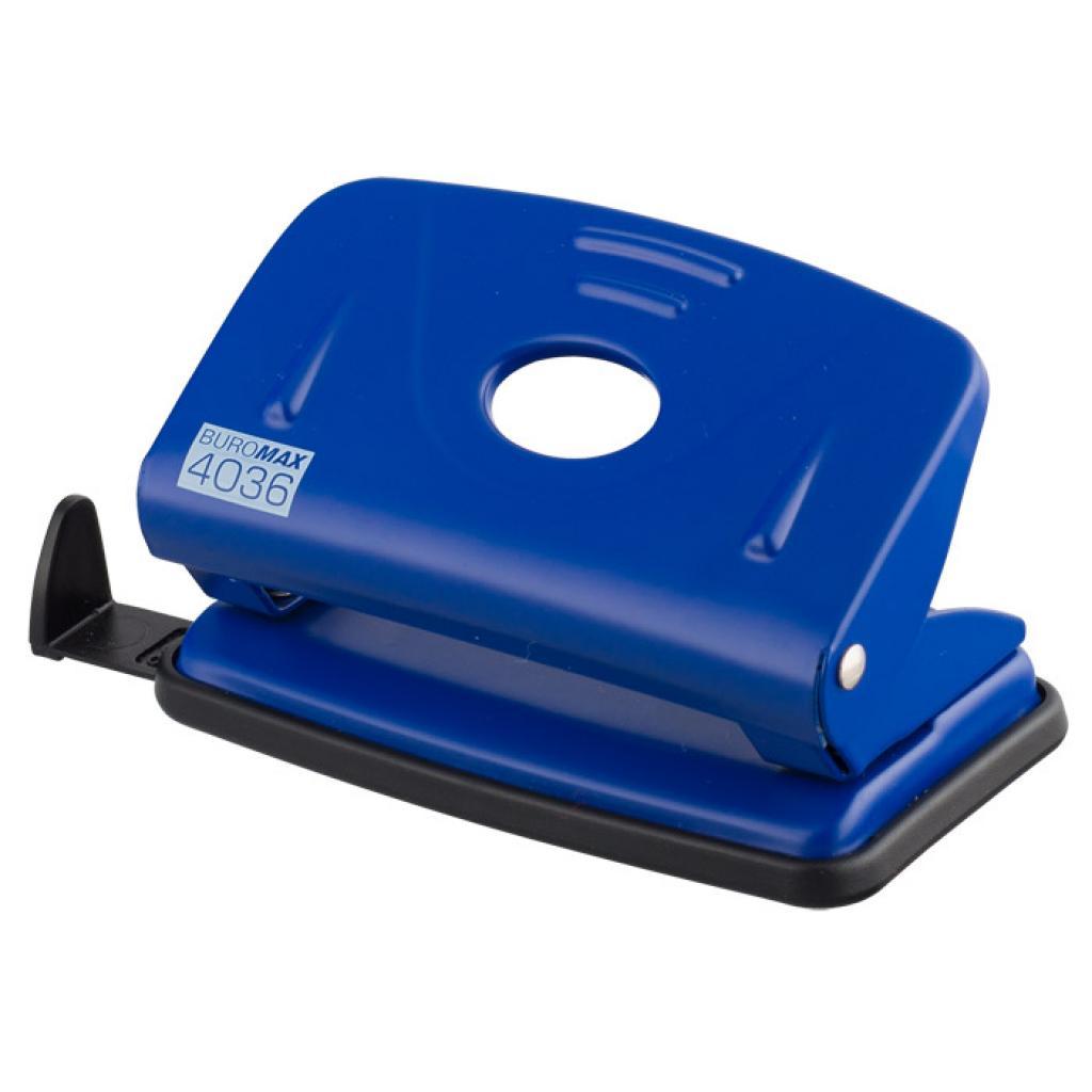 Дырокол Buromax metal, 10sheets, blue (BM.4036-02)