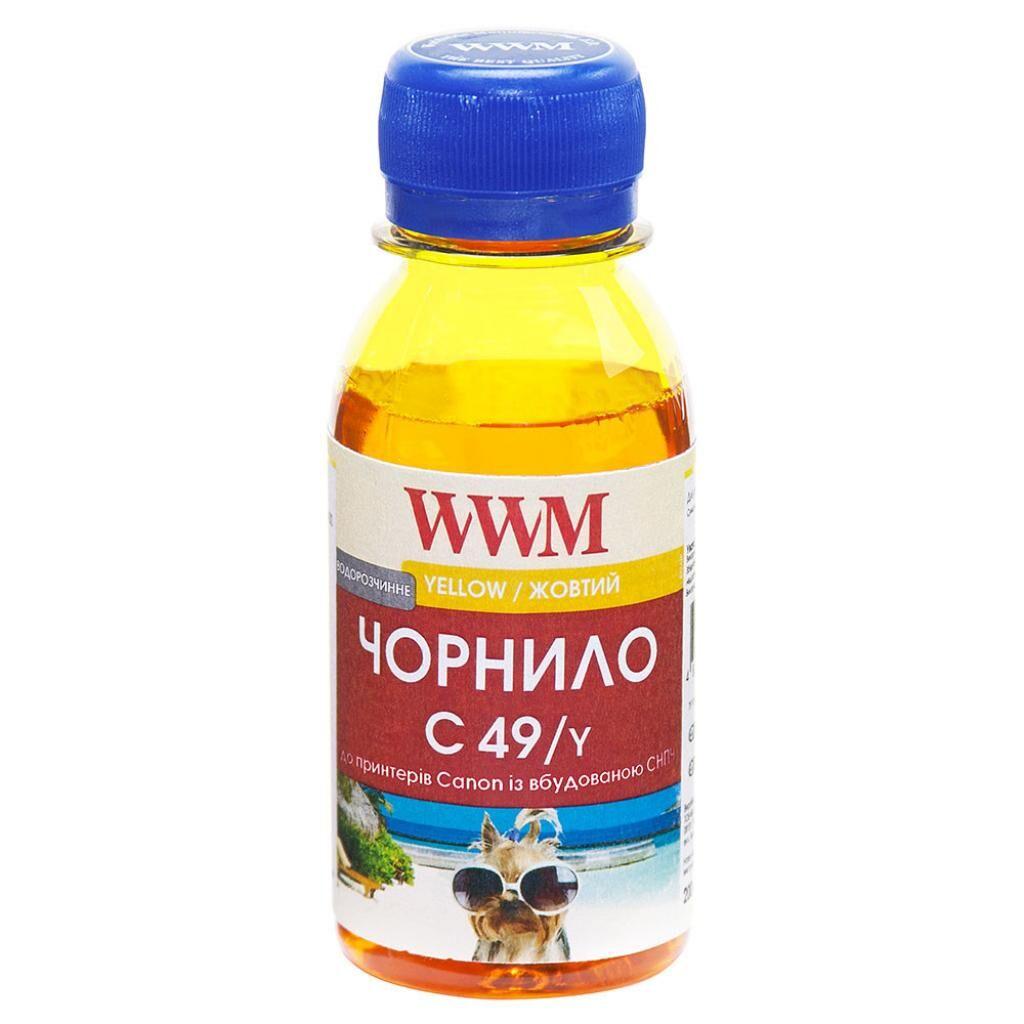 Чернила WWM Canon GI-490 100г Yellow (C49/Y-2)