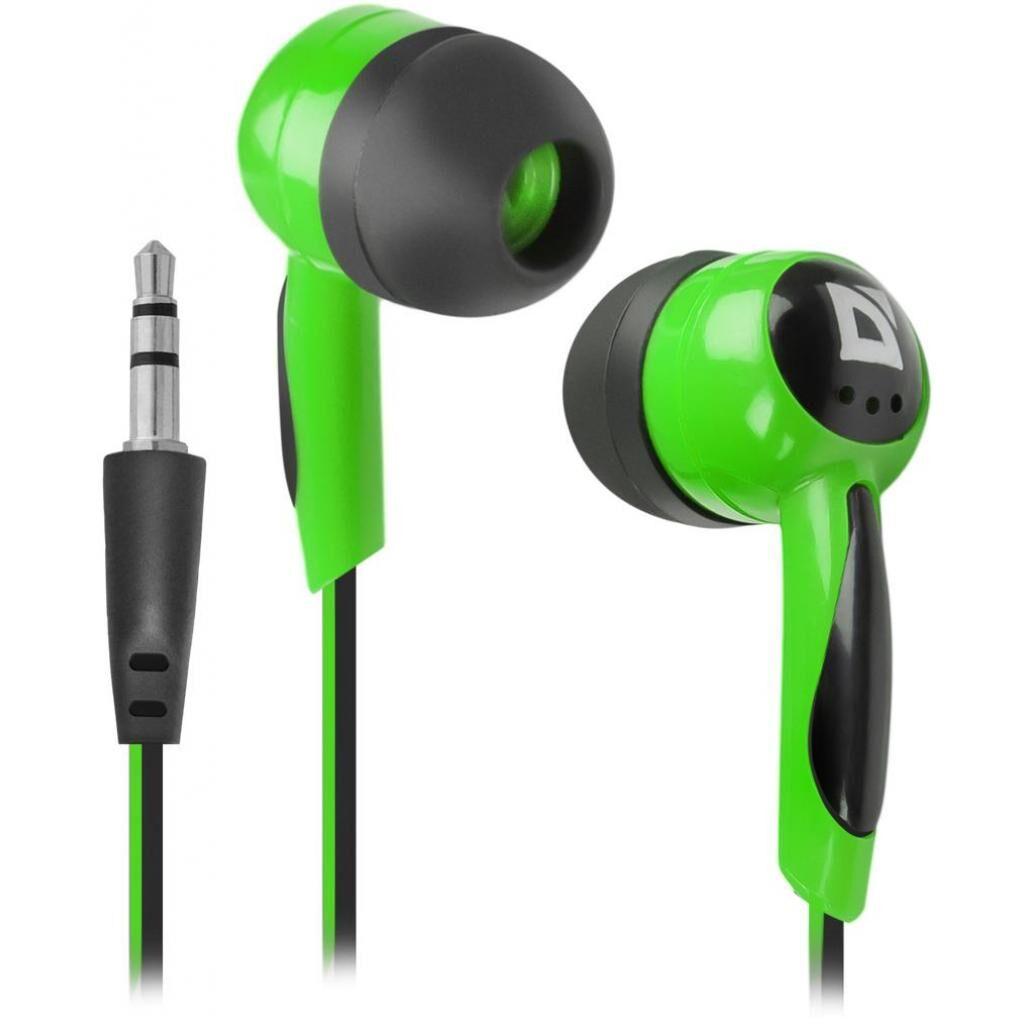 Наушники Defender Basic 604 Black-Green (63607)