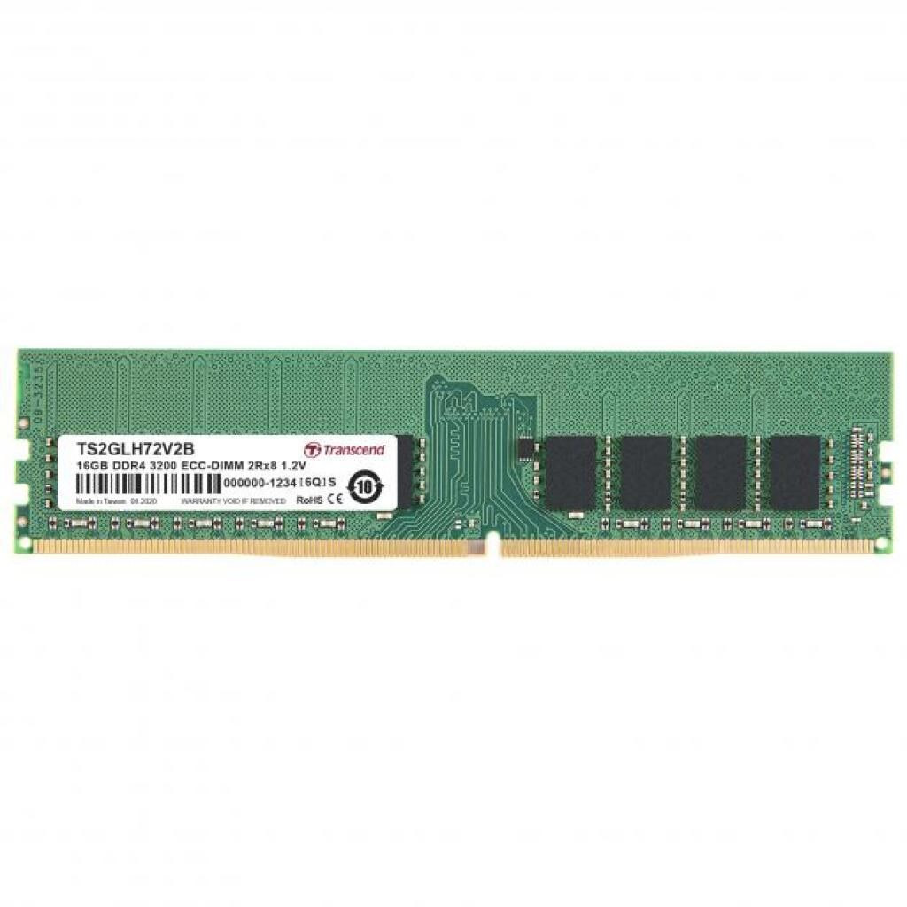 Модуль памяти для сервера DDR4 16GB ECC UDIMM 3200MHz 2Rx8 1.2V CL22 Transcend (TS2GLH72V2B)