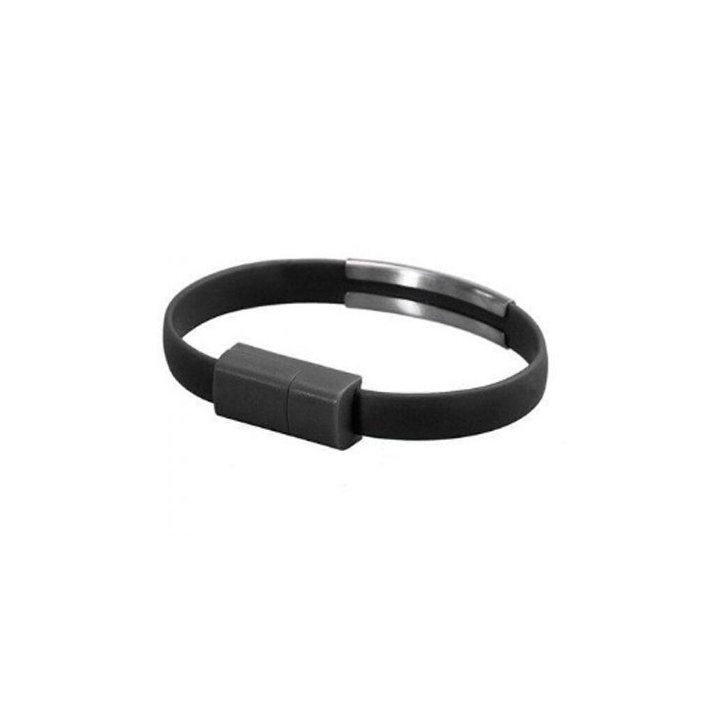 Дата кабель USB 2.0 AM to Lightning 0.2m браслет black EXTRADIGITAL (KBU1783)