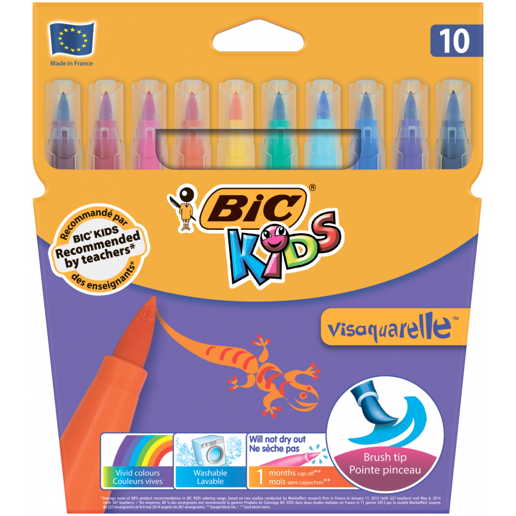 Фломастеры BIC Vis Aquarelle, 10 цветов (bc8289641)