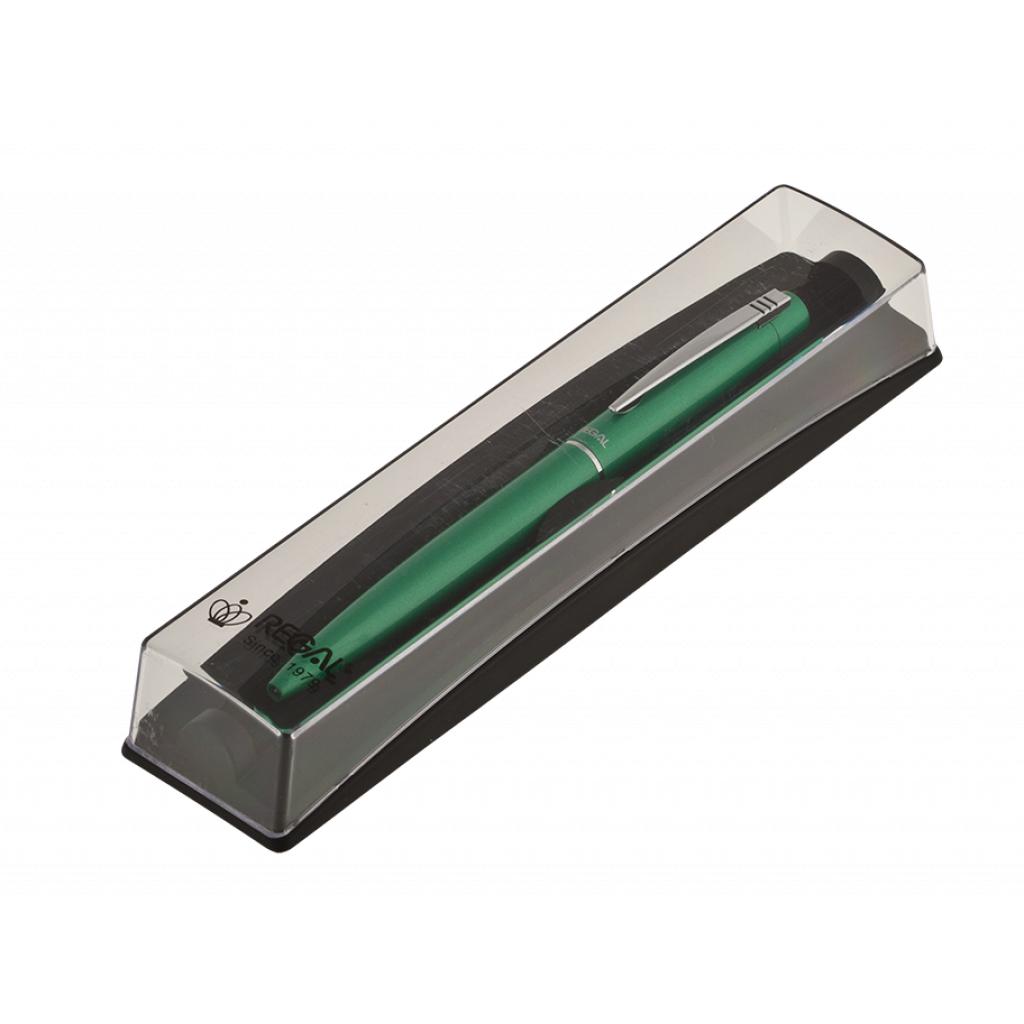 Ручка шариковая Regal Синяя 0.7 мм Зеленый корпус в футляре (R285422.PB10.B)