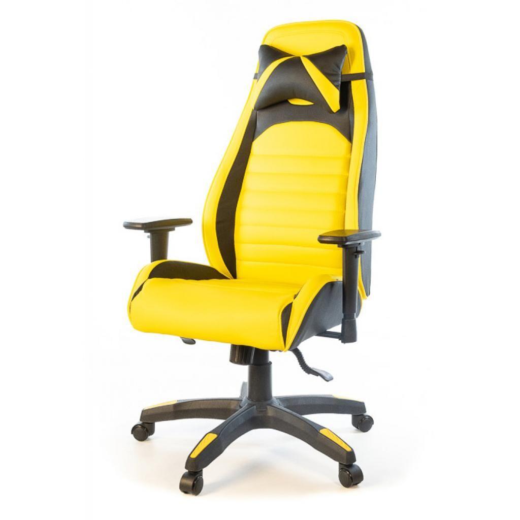 Кресло игровое Аклас Хазард PL ANF Желтое (20972)