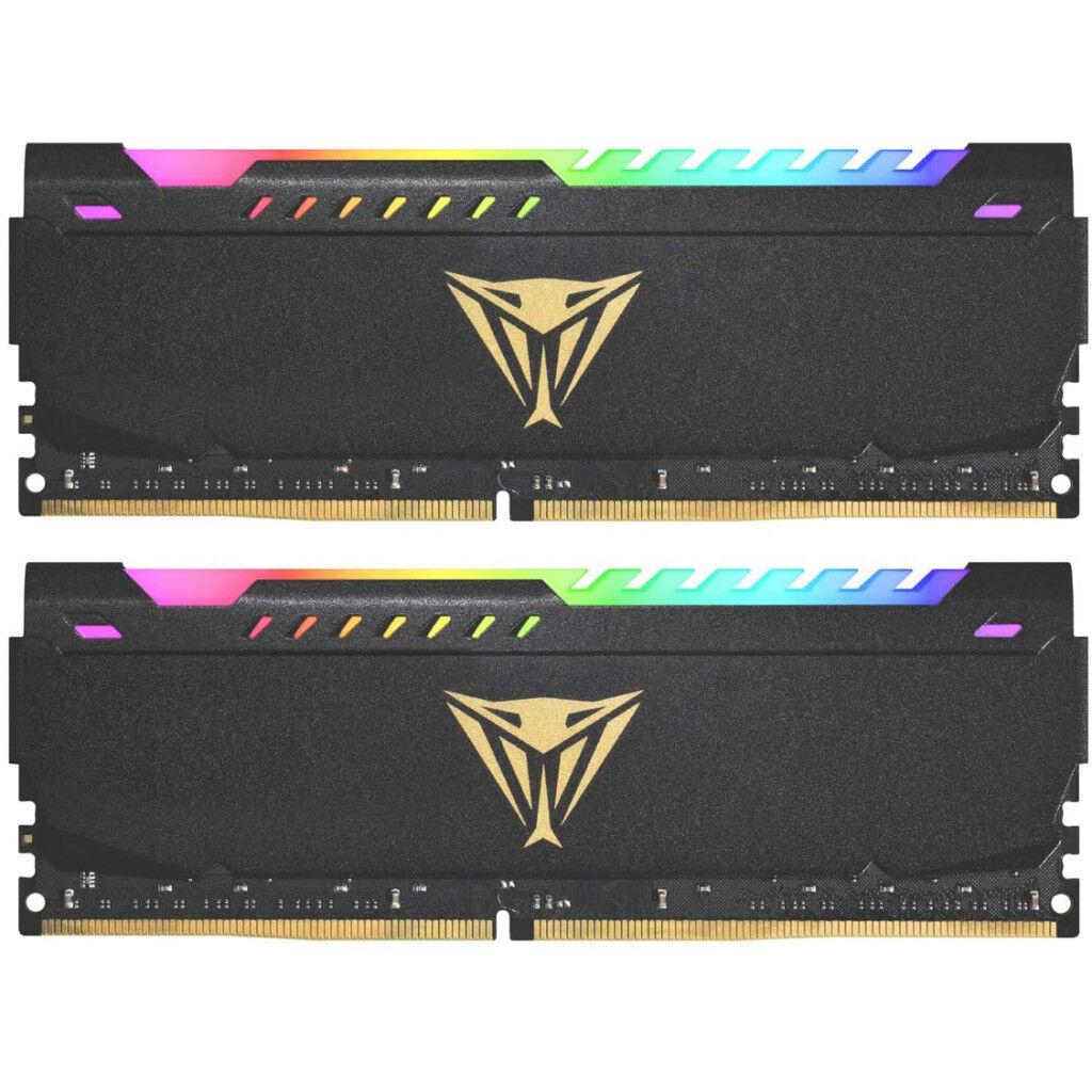 Модуль памяти для компьютера DDR4 16GB (2x8GB) 3200 MHz Viper Steel RGB Black Patriot (PVSR416G320C8K)