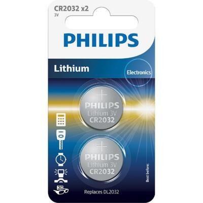 Батарейка PHILIPS CR2032 Lithium BLI 2 (CR2032P2/01B)