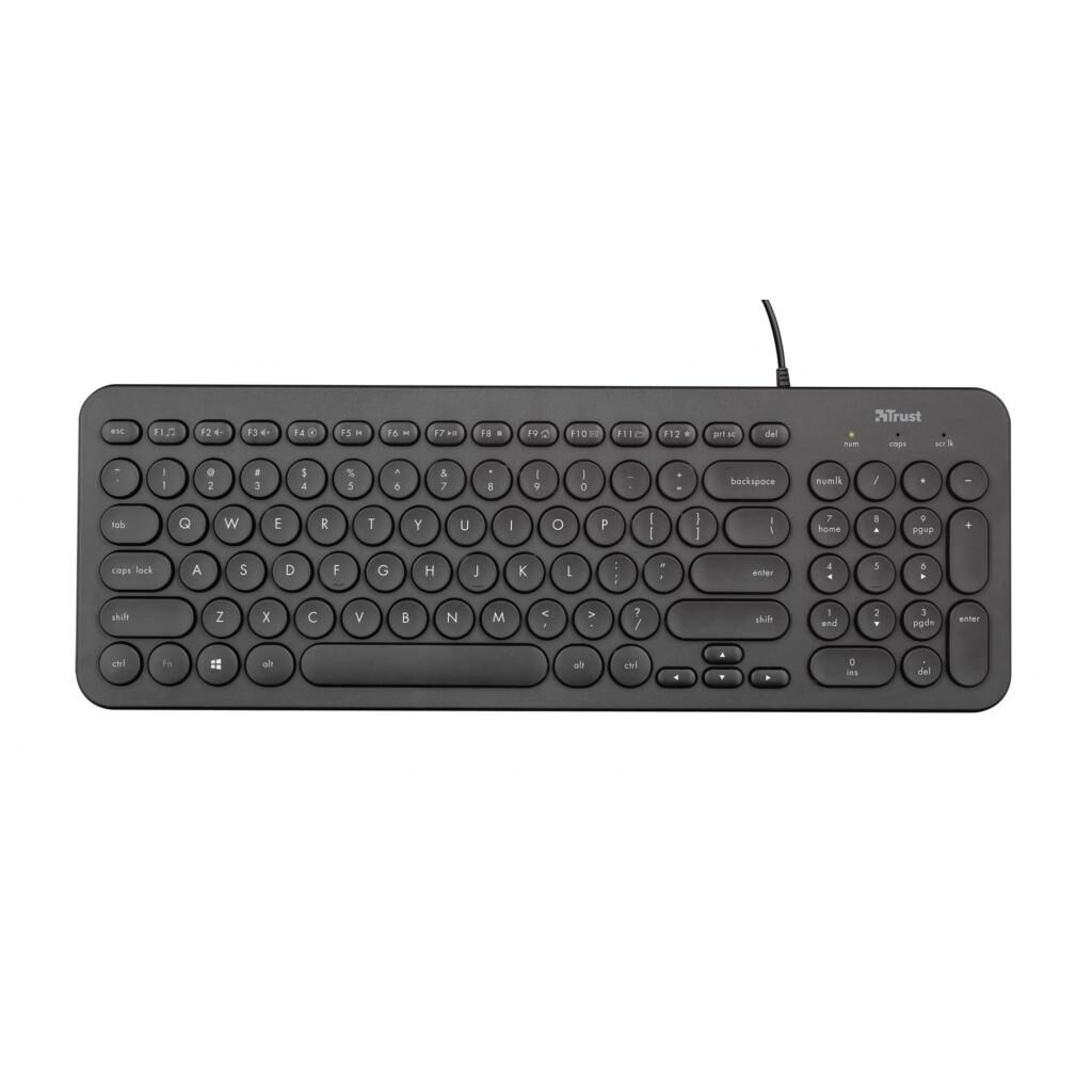 Клавиатура Trust Muto Silent USB Black (23408)