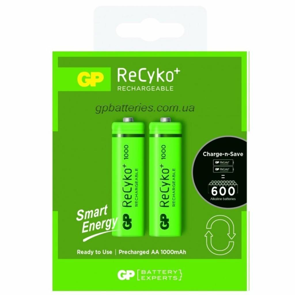 Аккумулятор GP AA 100AAHCE-2GB2 ReCyko+ Smart Energy R6 1000 mAh * 2 (NiMn) (100AAHCE / 4891199145421)