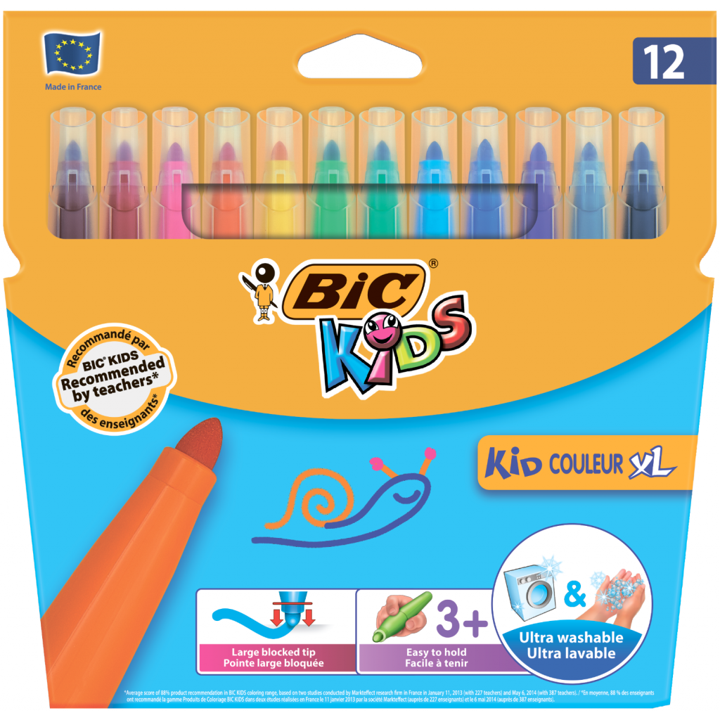 Фломастеры BIC Kid Coleour XL, 12 цветов (bc8289662)