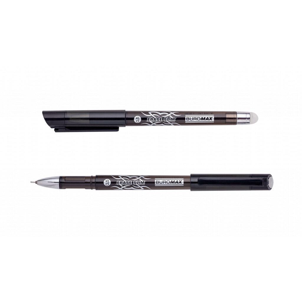 Ручка гелевая Buromax Erase Slim Пиши стирай 0.5 мм Черный корпус (BM.8300-02)