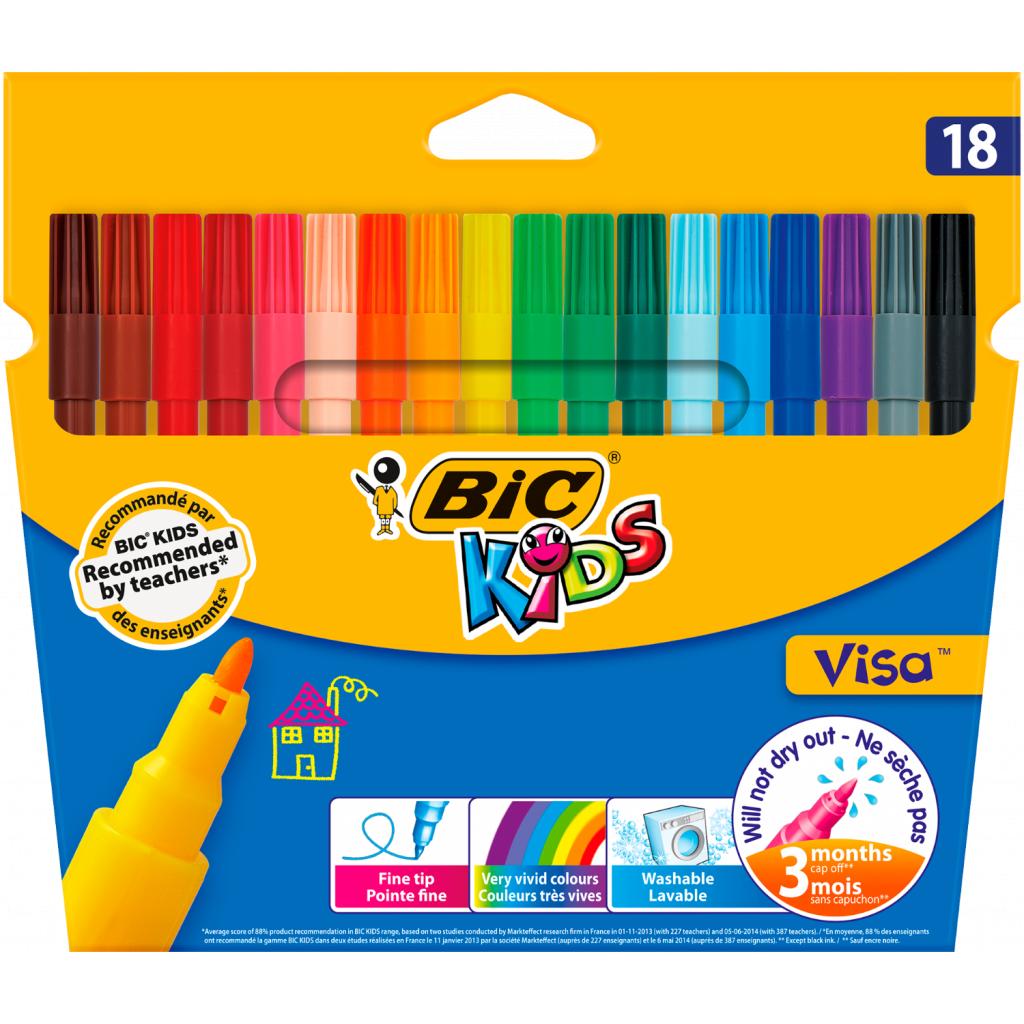 Фломастеры BIC Kids Visa 880, 18 цветов (bc888681)