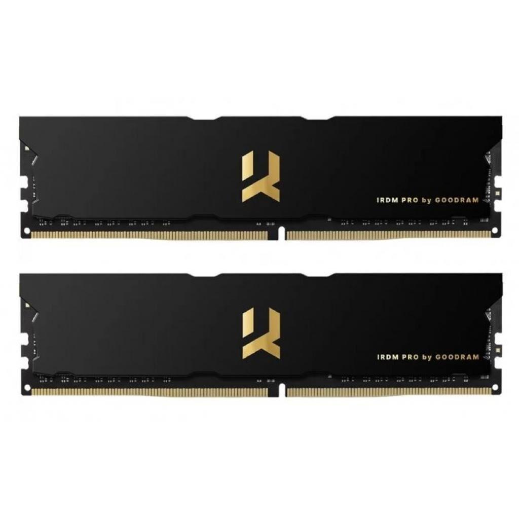 Модуль памяти для компьютера DDR4 16GB (2x8GB) 4000 MHz IRDM PRO Black GOODRAM (IRP-4000D4V64L18S/16GDC)