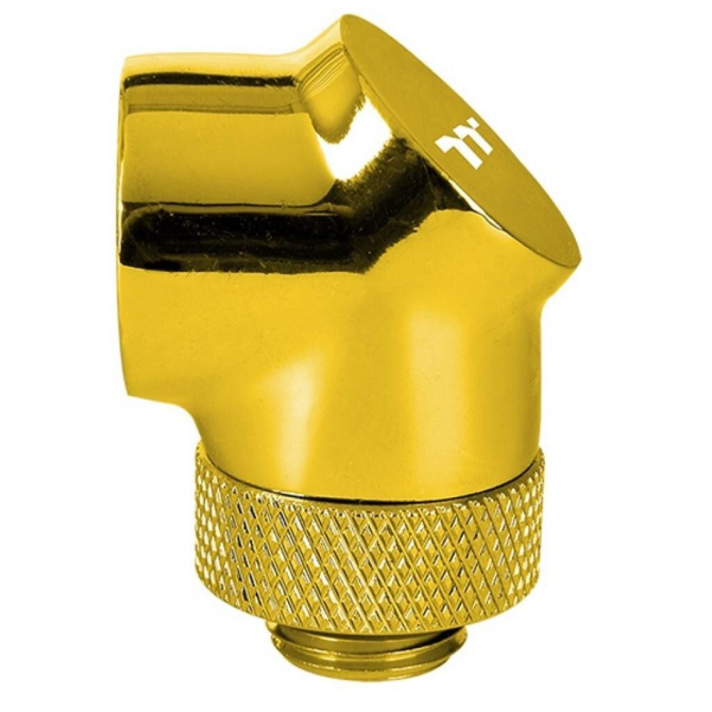 Фитинг для СВО ThermalTake Pacific G1/4 90 Degree Adapter - Gold/DIY LCS/Fitting (CL-W268-CU00GD-A)