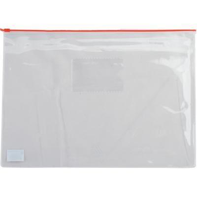Папка на молнии BUROMAX А5, plastic zipper red (BM.3947-05)