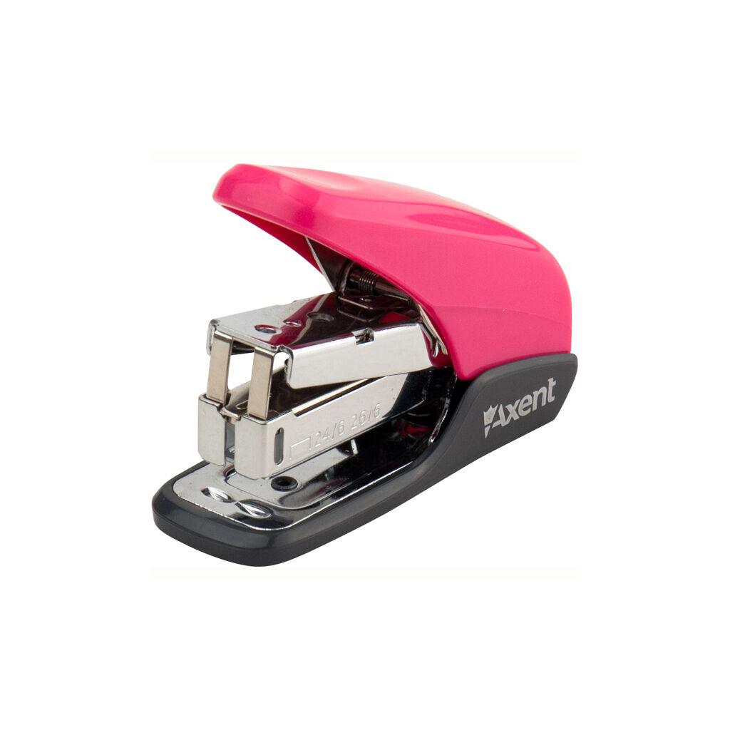 Степлер Axent Shell 24/6 20 л Розовый (4841-10-A)