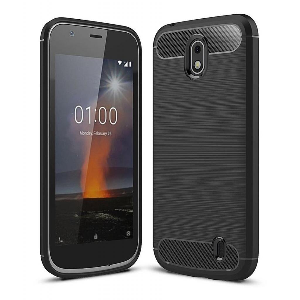 Чехол для моб. телефона Laudtec для Nokia 1 Carbon Fiber (Black) (LT-N1B)