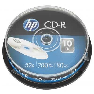 Диск CD HP CD-R 700MB 52X 10шт Spindle (69308)