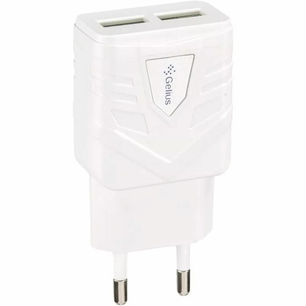 Зарядное устройство Gelius Ultra Optimus GU-HC03 2USB 1A White (00000076360)