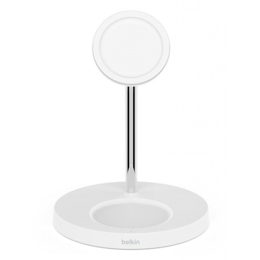 Зарядное устройство Belkin MagSafe 2in1 Wireless Charger, white (WIZ010VFWH)