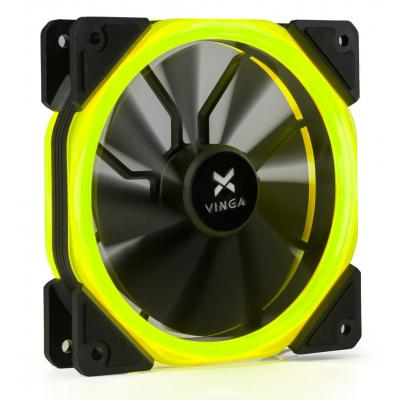 Кулер для корпуса Vinga LED fan-02 yellow
