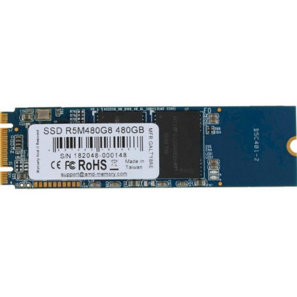 Накопитель SSD M.2 2280 480GB AMD (R5M480G8)