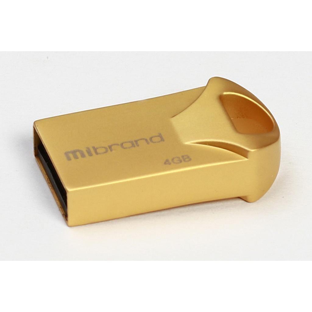 USB флеш накопитель Mibrand 4GB Hawk Gold USB 2.0 (MI2.0/HA4M1G)