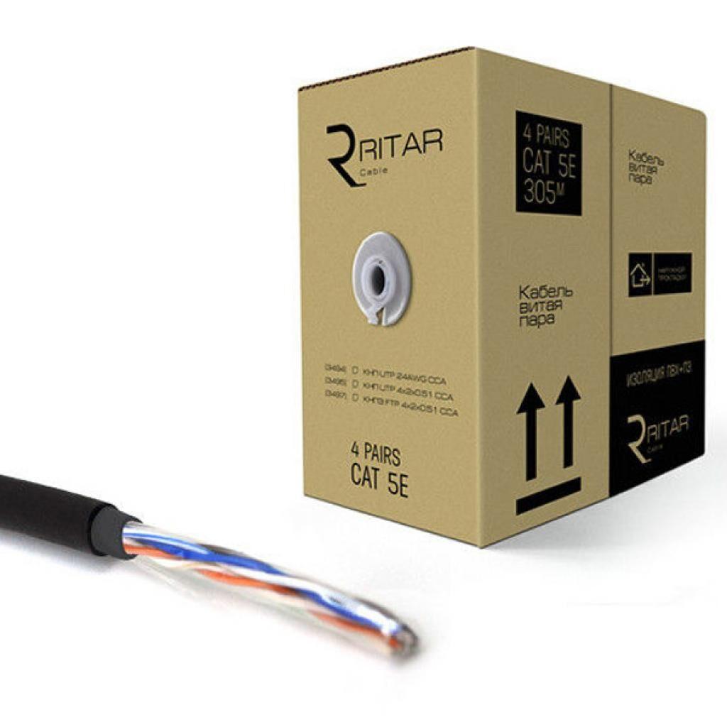 Кабель сетевой Ritar UTP 305м КНП (4*2*0,51)[СCA] ПВХ+ПЭ, наружный (03495)