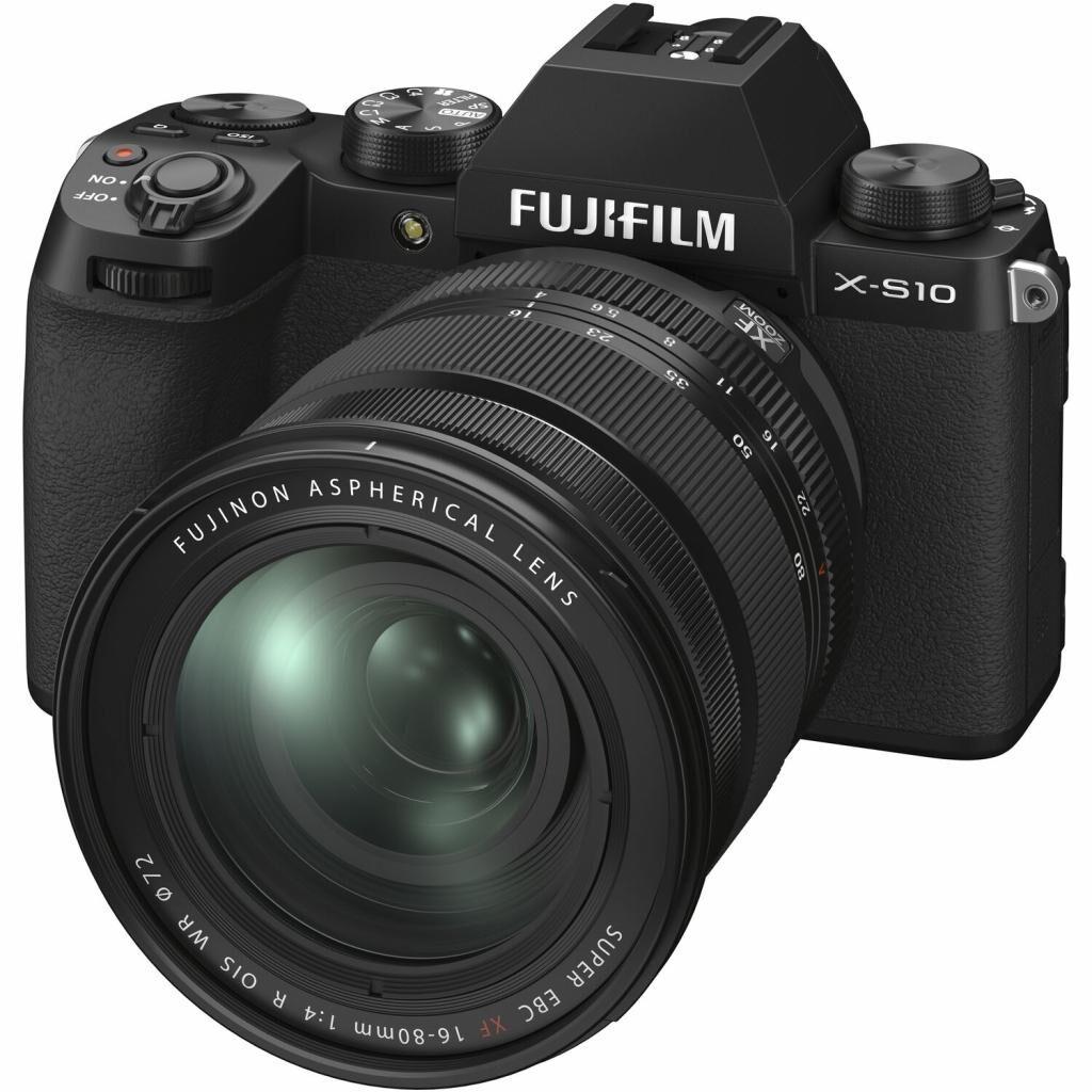 Цифровой фотоаппарат Fujifilm X-S10+ XF 16-80mm F4.0 Kit Black (16670077)